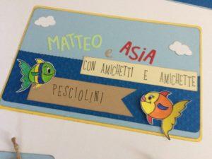 """Tableau marino """"Comunione Asia e Matteo"""""""